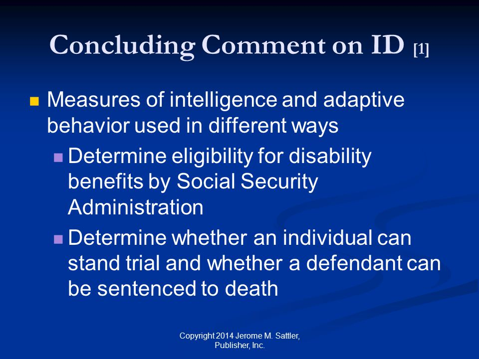 Concluding Comment on ID [1]